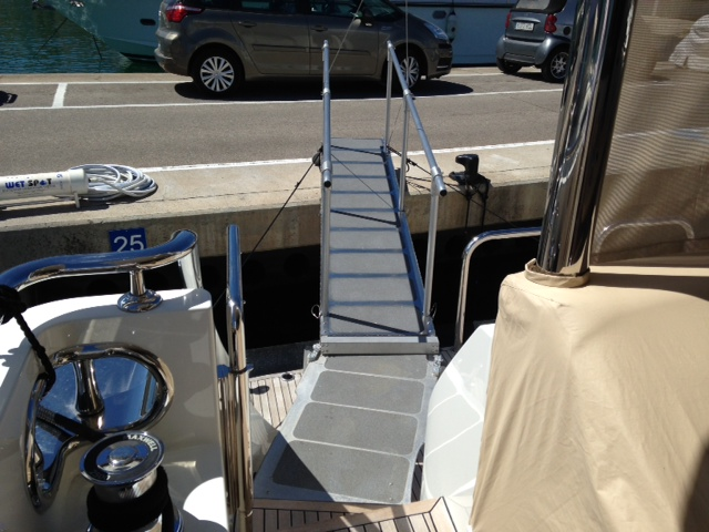 Prestige 60 with a custom ramp and landing walkway